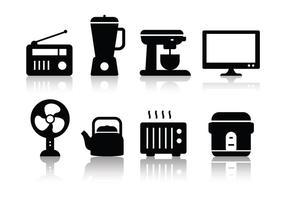 Ensemble d'icônes Minimalist gratuit pour appareils ménagers vecteur