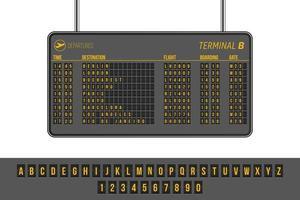 panneau d'information sur les départs de l'aéroport