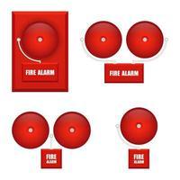 ensemble d'alarmes incendie rondes vecteur