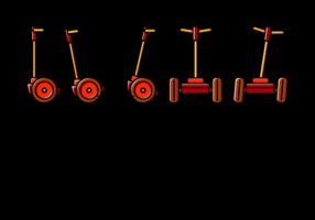 Vecteur icône segway
