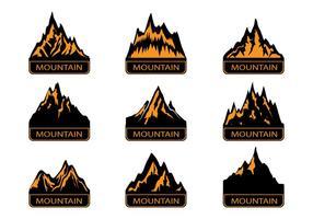 Montagnes Landmark Silhouette vecteur
