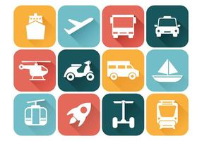 Vecteur d'icônes de transport gratuit