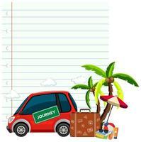 conception de modèle de papier avec voiture et sacs vecteur