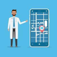 conception de smartphone de localisation des soins de santé
