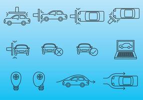 Icônes de test de voiture vecteur