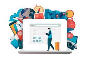 concept de réservation en ligne