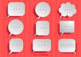 Collection vectorielle de bulles de discours papier simples vecteur