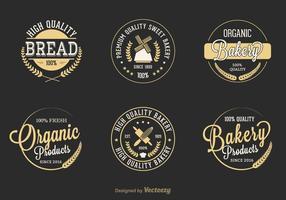 Étiquettes de vecteur de boulangerie rétro gratuit