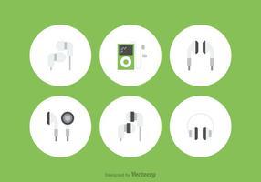 Icônes vectorielles gratuites pour écouteurs vecteur