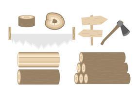 Vecteur libre de bûches de bois