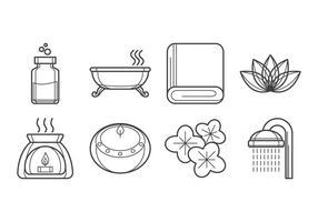 Vecteur gratuit d'icône de spa