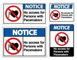 remarquer aucun accès pour les personnes avec stimulateur cardiaque vecteur