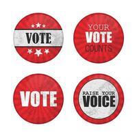 jeu de broches de bouton de vote