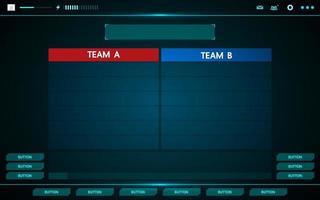 jeu et équipes interface utilisateur hud