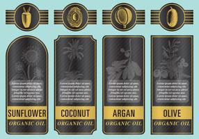 Étiquettes d'huile organique