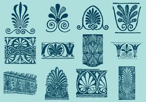 Motifs décoratifs grecs vecteur
