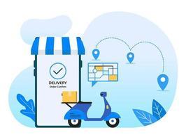 service de livraison d'applications de téléphonie mobile vecteur