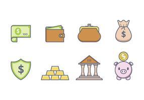 Icônes gratuites de l'argent vecteur