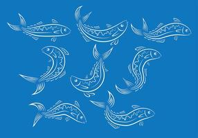 Ions de vecteur de poisson de maquereau