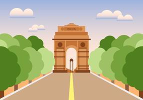 Vecteur d'illustration de la porte de l'Inde