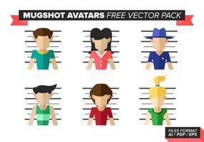 Pack d'images vectorielles gratuites Avatars de Mugshot vecteur