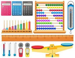 ensemble de divers outils de mesure vecteur