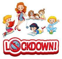 membres de la famille en lock-out