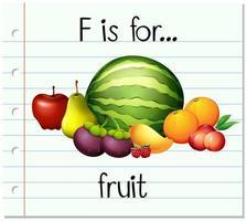 f est pour les fruits vecteur