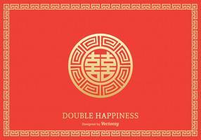 Conception de vecteur symbole double bonheur gratuit