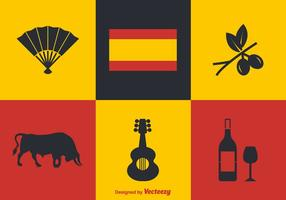 Icônes vectorielles espagnoles gratuites vecteur