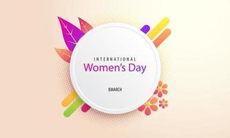 journée internationale de la femme vecteur