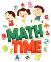 temps de mathématiques avec des enfants heureux