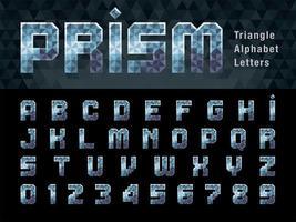 chiffres et lettres de l'alphabet à prisme vecteur