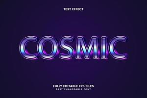 effet de texte cosmique modifiable vecteur