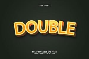 effet de texte double modifiable vecteur