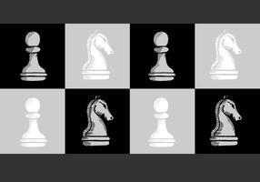 Vecteurs de pions de chevalier d'échecs