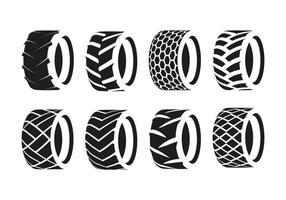 Silhouette pneu tracteur