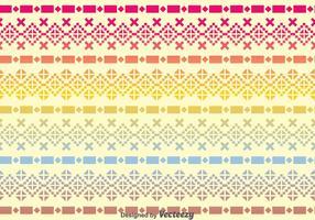 Incas raibow pattern vecteur