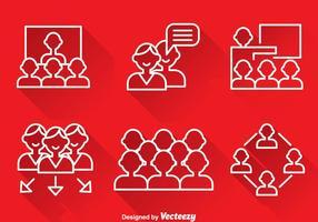 Travailler ensemble, contourner les icônes vecteur