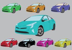 Icônes de couleurs Prius gratuites