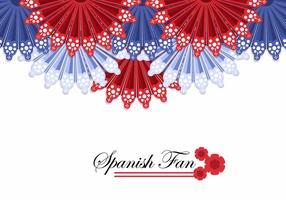 Vecteur de fond de ventilateur espagnol