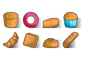 Vector d'icônes de pain de raisins gratuit