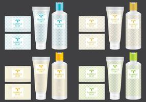 Emballage de savon et de shampoing vecteur