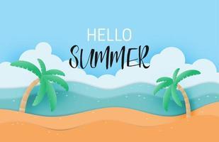 bonjour l'été avec paysage sable