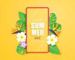 vente d'été avec smartphone