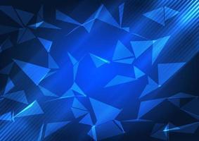 bannière bleu low poly