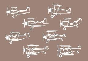 Icônes de biplan vecteur