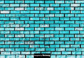 Texture de mur de brique bleue grunge abstraite vecteur