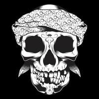 crâne en bandana avec dents manquantes