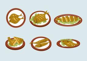 Délicieux fish fry vector
